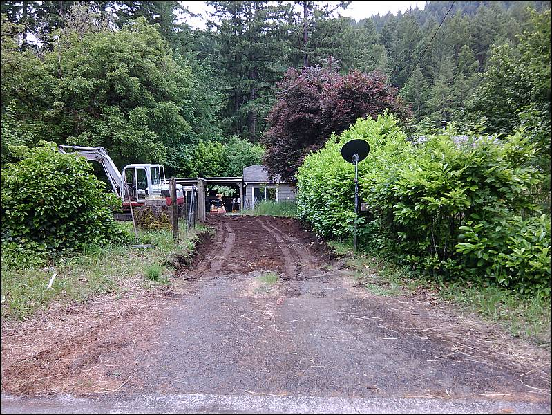 Large Gravel Driveway Project